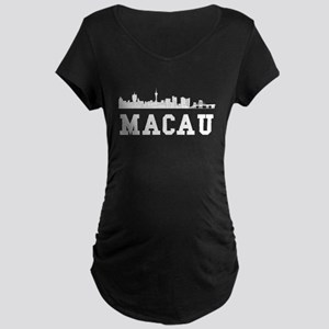 Macau China Skyline Maternity T-Shirt