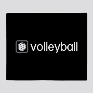 Volleyball (Grey) Throw Blanket