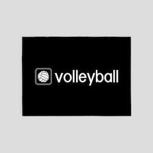 Volleyball (Grey) 5'x7'Area Rug