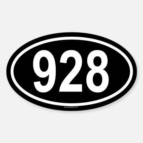 928 Oval Decal