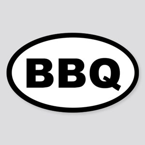 BBQ OVAL STICKERS Oval Sticker