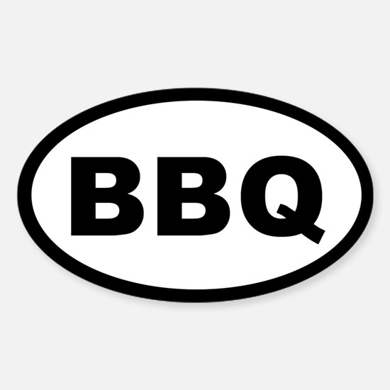 BBQ OVAL STICKERS Oval Decal