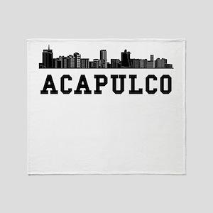 Acapulco Mexico Skyline Throw Blanket