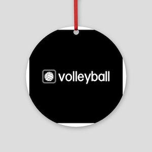 Volleyball (Grey) Round Ornament
