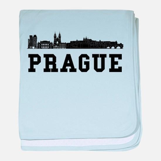 Prague Czech Republic Skyline baby blanket