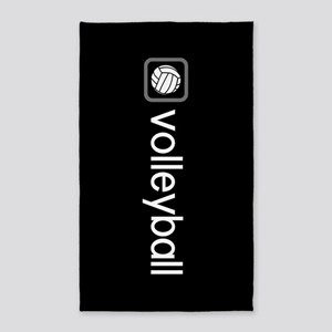 Volleyball (Grey) Area Rug