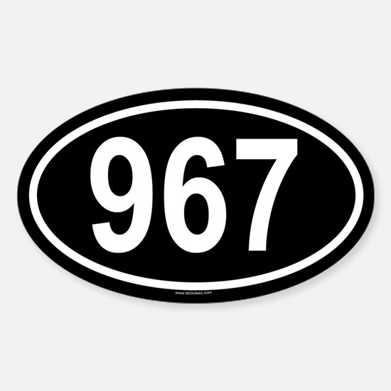 967 Oval Decal