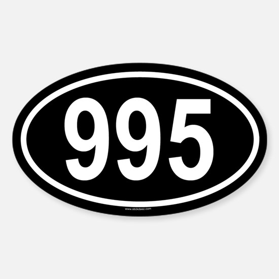 995 Oval Decal