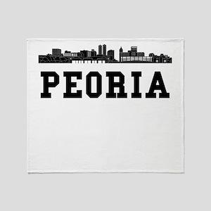 Peoria IL Skyline Throw Blanket