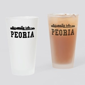 Peoria IL Skyline Drinking Glass