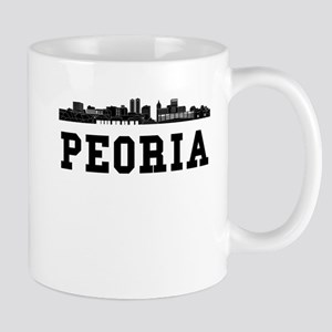 Peoria IL Skyline Mugs