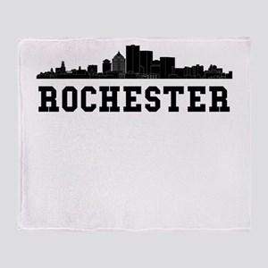 Rochester NY Skyline Throw Blanket