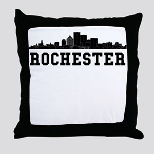 Rochester NY Skyline Throw Pillow