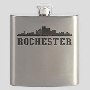 Rochester NY Skyline Flask