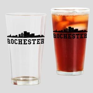 Rochester NY Skyline Drinking Glass
