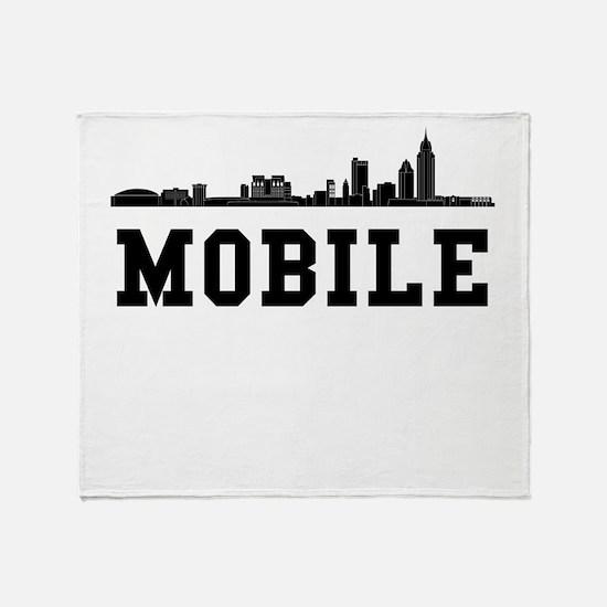 Mobile AL Skyline Throw Blanket