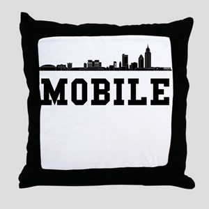 Mobile AL Skyline Throw Pillow