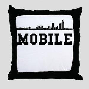 Mobile AL Skyline Throw Pillow