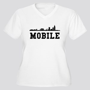 Mobile AL Skyline Plus Size T-Shirt