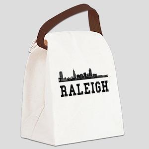 Raleigh NC Skyline Canvas Lunch Bag