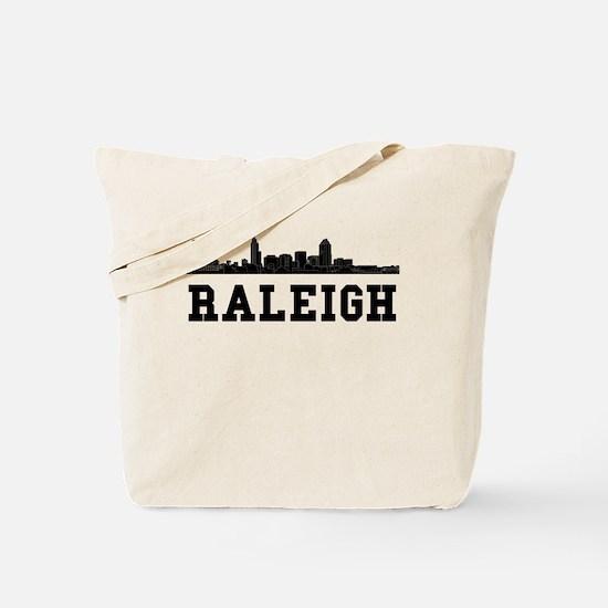 Raleigh NC Skyline Tote Bag