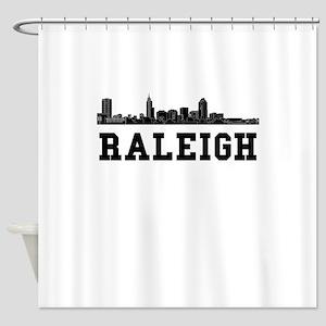 Raleigh NC Skyline Shower Curtain