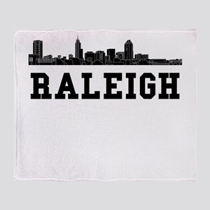 Raleigh NC Skyline Throw Blanket