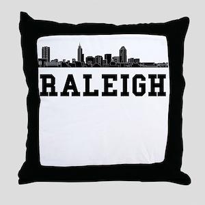 Raleigh NC Skyline Throw Pillow