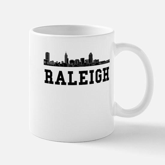 Raleigh NC Skyline Mugs