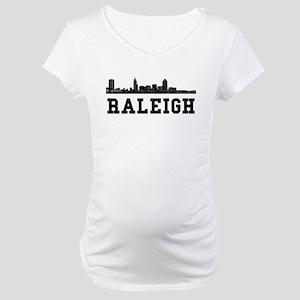 Raleigh NC Skyline Maternity T-Shirt