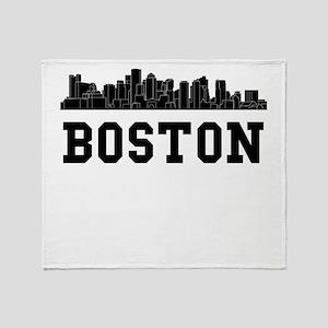 Boston MA Skyline Throw Blanket