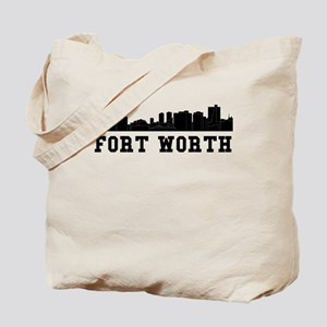Fort Worth TX Skyline Tote Bag