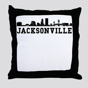 Jacksonville FL Skyline Throw Pillow