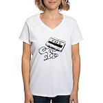 Mixtape Symbol Women's V-Neck T-Shirt