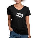 Mixtape Symbol Women's V-Neck Dark T-Shirt