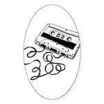 Mixtape Symbol Oval Sticker