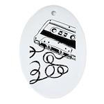Mixtape Symbol Oval Ornament