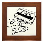 Mixtape Symbol Framed Tile