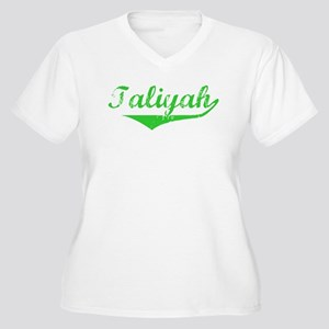Taliyah Vintage (Green) Women's Plus Size V-Neck T