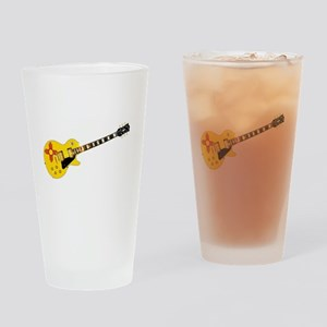 New Mexico State Flag Guitar Drinking Glass