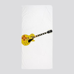 New Mexico State Flag Guitar Beach Towel