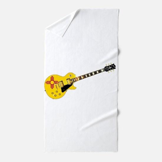 New Mexico State Flag Guitar Beach Towel