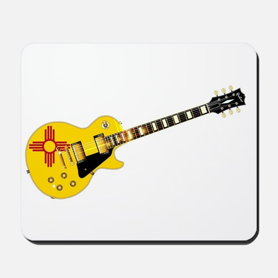 New Mexico State Flag Guitar Mousepad