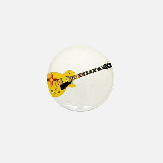 New Mexico State Flag Guitar Mini Button