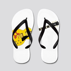 New Mexico State Flag Guitar Flip Flops