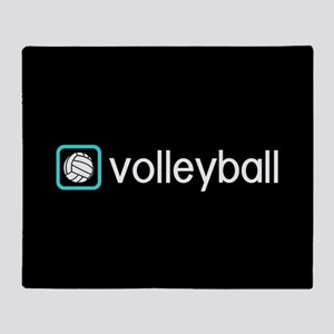 Volleyball (Blue) Throw Blanket