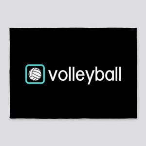 Volleyball (Blue) 5'x7'Area Rug