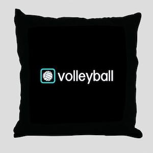 Volleyball (Blue) Throw Pillow