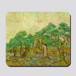 The Olive Orchards by Vincent van Gogh Mousepad