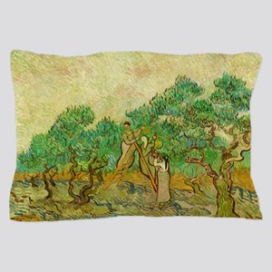 The Olive Orchards by Vincent van Gogh Pillow Case